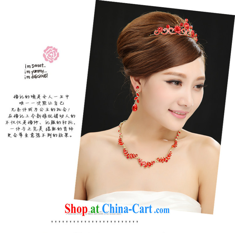 Marriages red Crown necklace 3 piece wedding jewelry wedding water drilling earrings wedding accessories jewelry red pictures, price, brand platters! Elections are good character, the national distribution, so why buy now enjoy more preferential! Health