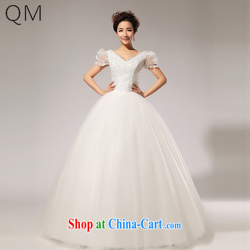 Shallow end (QM) Solid Color bubble cuff pure ivory bridal wedding wedding CTX HS 133m White XXL
