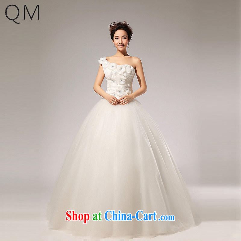 Light _at the end QM_ THE SHOULDER wedding band manually take bridal wedding dresses CTX HS 110m White XXL