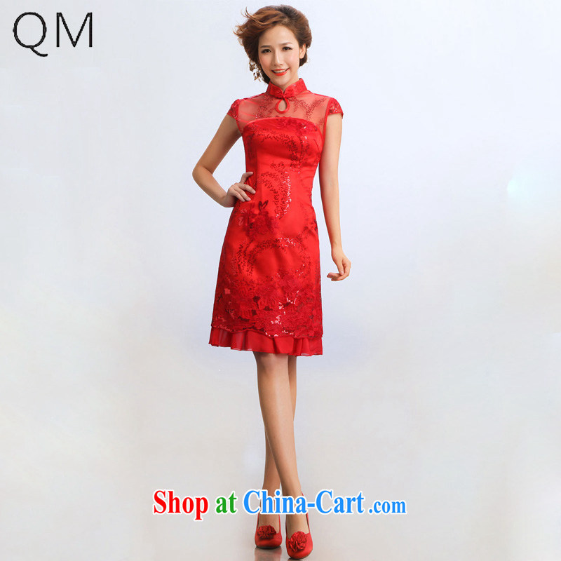 Shallow end _QM_ wedding dresses improved bridal wedding show service bridal dresses CTX red XXL