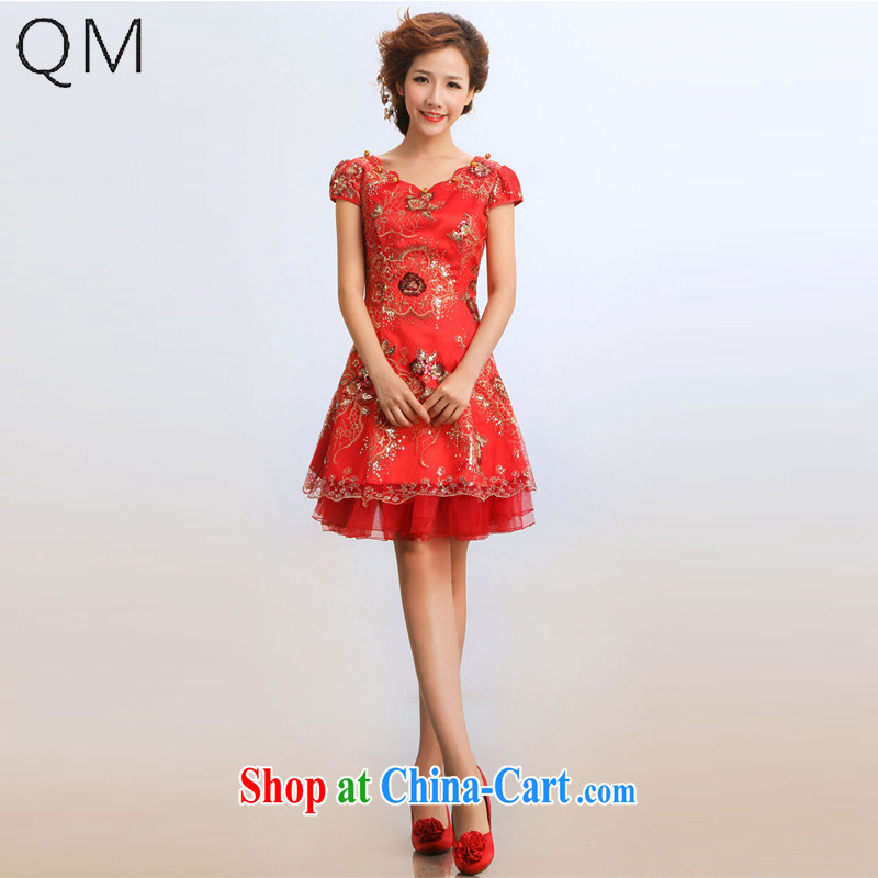 Shallow end _QM_ Wedding bridal dresses summer bridal wedding wedding dresses qipao CTX QP 15 red XXL