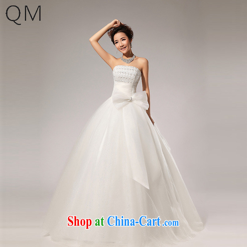 Shallow end _QM_ Wedding erase chest Korean wedding dresses CTX HS 59 m White XXL