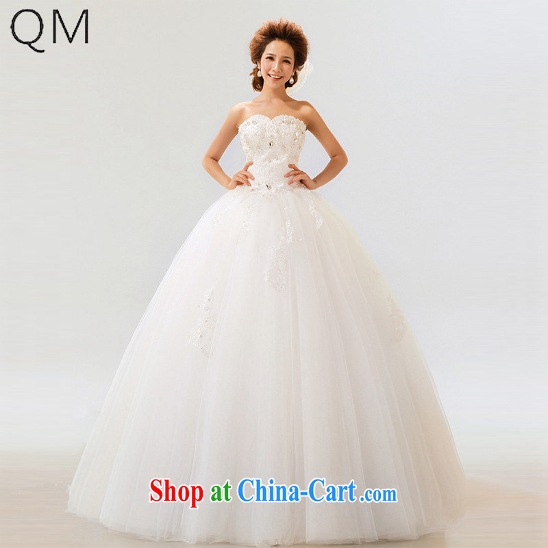 Light _at the end QM_ wedding dresses bride's bare chest Princess bride wedding wedding dresses CTX white XXL