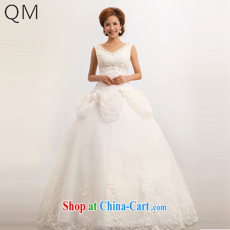 Shallow end (QM) Wedding shoulders wedding sweet marriages wedding dresses CTX white XXL