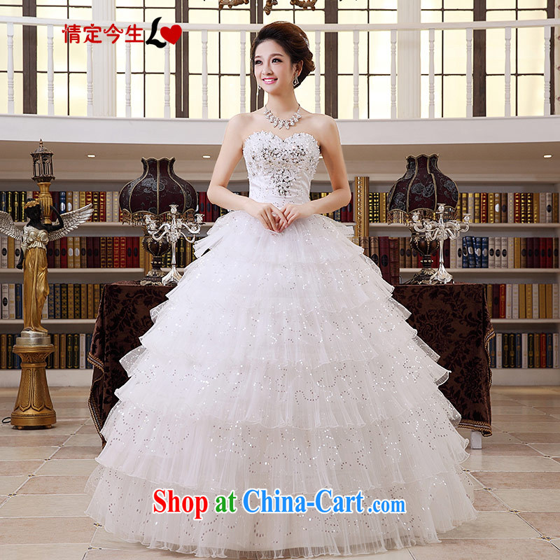Love Life 2015 new erase chest tail wedding spring, bridal graphics thin wedding dress female inserts drill with XXL paragraph 2 feet 3 waist