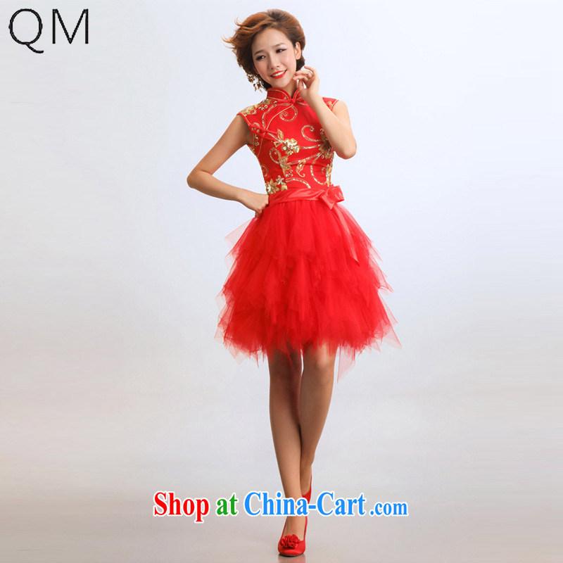 Light (at the end) QM dresses short wedding bridal wedding wedding bridal dresses qipao CTX red XXL