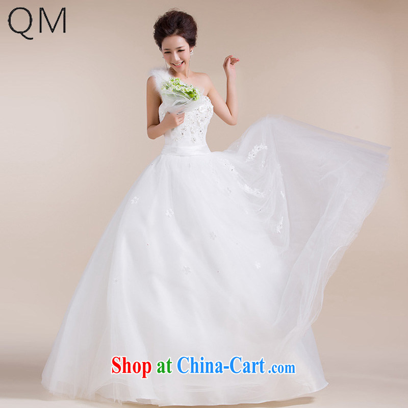 Light _at the end_ QM fluff, shoulder straps, floral wiped off chest wedding dresses CTX HS 556 meters white XXL