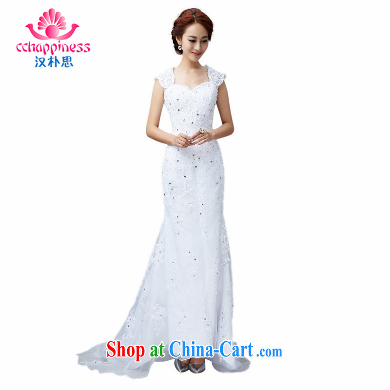 Han Park (cchappiness) 2015 New Style retro crowsfoot cultivating graphics thin lace bridal wedding white XXL (7 days shipping)