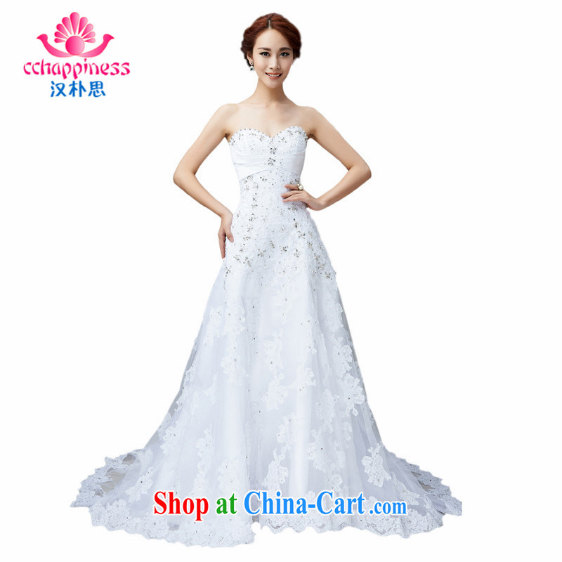 Han Park (cchappiness) 2015 new erase chest Queen noble beauty bridal wedding white XXL (7 days shipping)