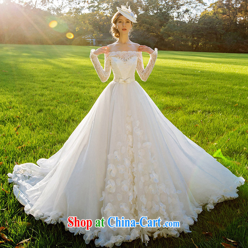 The bride's wedding dresses new 2015 winter wedding wedding petal large tail dream 2512 M