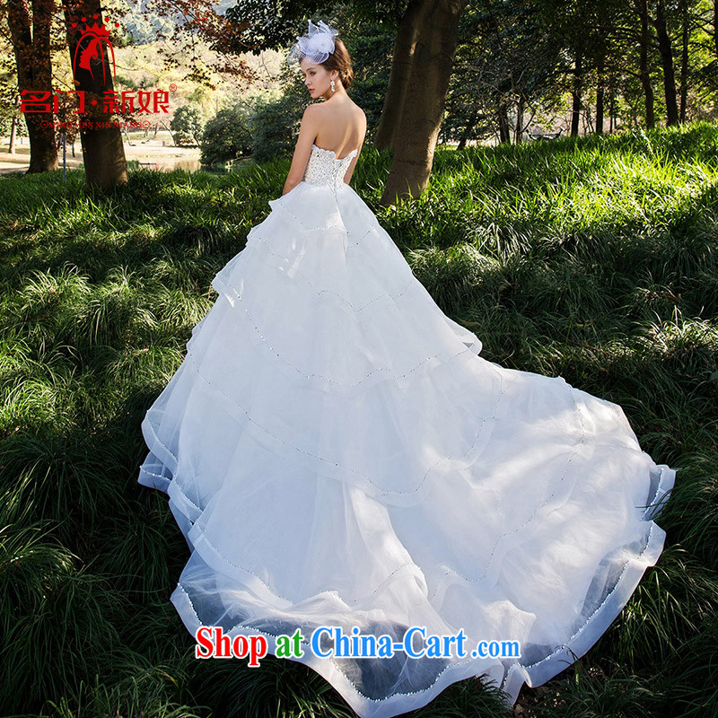 The bride's winter wedding erase chest cake skirt with original design manual staple Pearl 2525 M