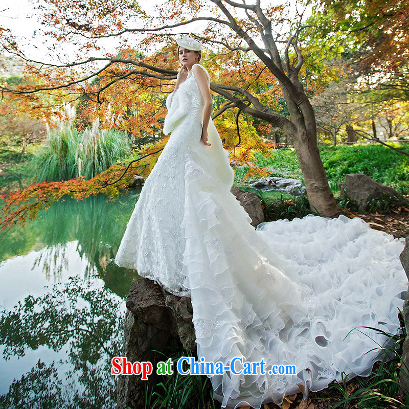 The bride's wedding dresses new 2015 stylish Original Design crowsfoot the tail wedding 2531 L, the bride, shopping on the Internet