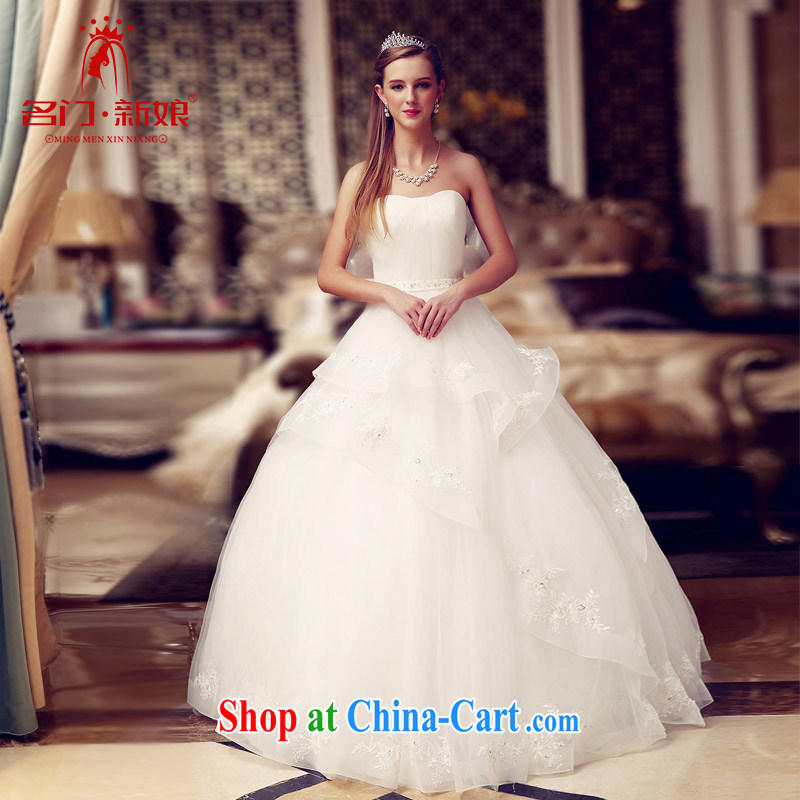 The bride's wedding dresses new 2015 shaggy Princess wedding erase chest strap 826 L