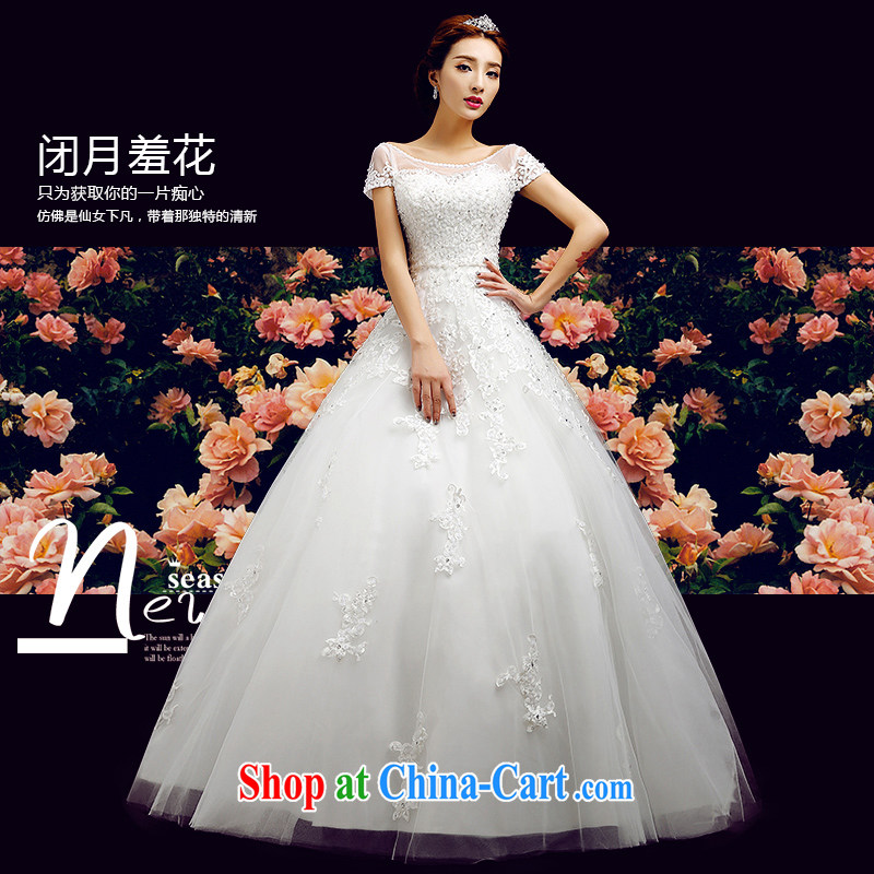 Code hang bridal 2014 New Field shoulder Wedding Fashion double-shoulder straps lace wedding with wedding high-end custom wedding buy the 3M head yarn white XXL
