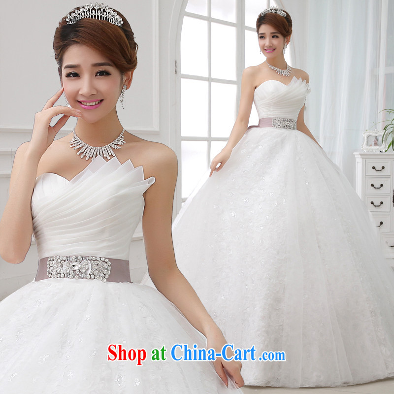 Code Hang Seng bride spring 2015 pregnant women, wedding high waist straps lace with bare chest large code wedding dresses buy the first yarn stays skirt gloves ��ɳ color belt S