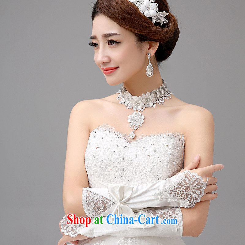 The United States, wedding dresses accessories bridal necklace only lace flowers parquet diamond necklace bridal jewelry jewelry E - 01 white