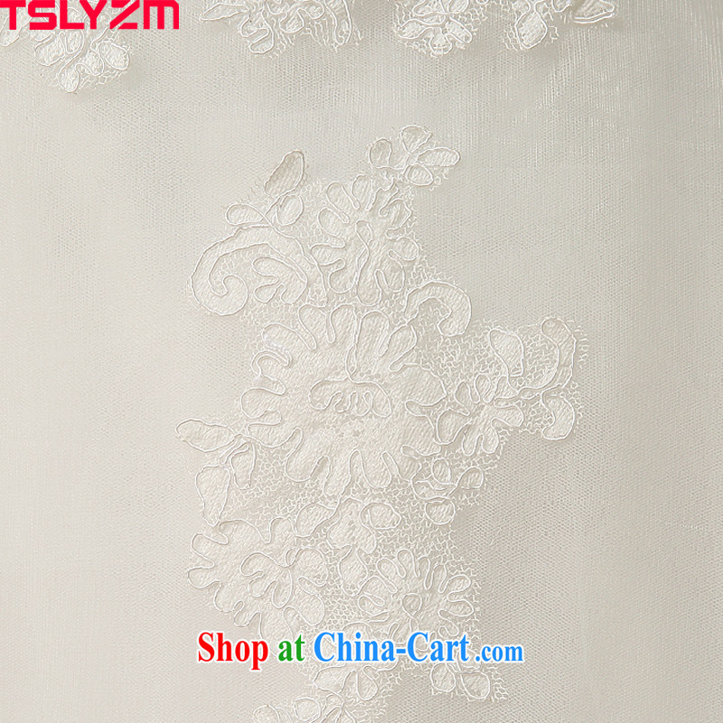 Tslyzm one shoulder wedding dresses 2015 spring and summer new marriages Korean lace beauty with shaggy white dress with S, Tslyzm, shopping on the Internet