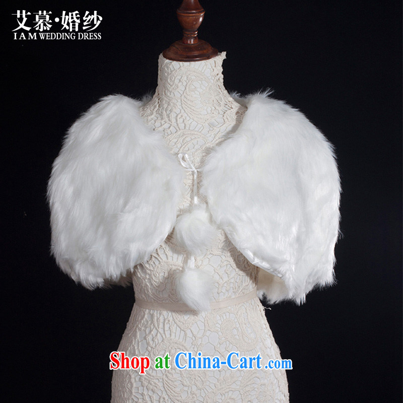 With the 2014 new wedding hair shawl bridal shawl white hair tied with a shawl jacket winter, Ivory