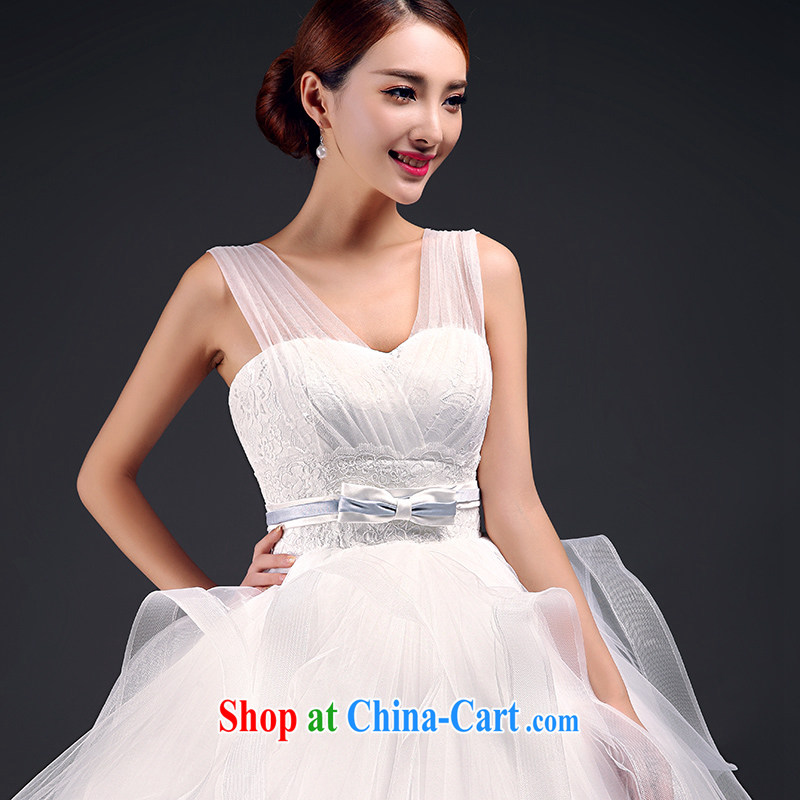 Mr. where Yu 2015 in accordance with new summer wedding bridal wedding wedding dresses wedding large code pregnant women wedding beauty and stylish Korean double-shoulder strap with bare chest wedding white XL