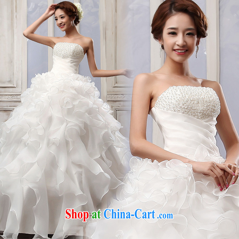 Mr. where Yu according to Korean wiped his chest wedding white Princess tie with wedding new 2015 bridal wedding dresses spring and summer wedding wedding beauty graphics thin wedding white XL, where Yu, and, on-line shopping