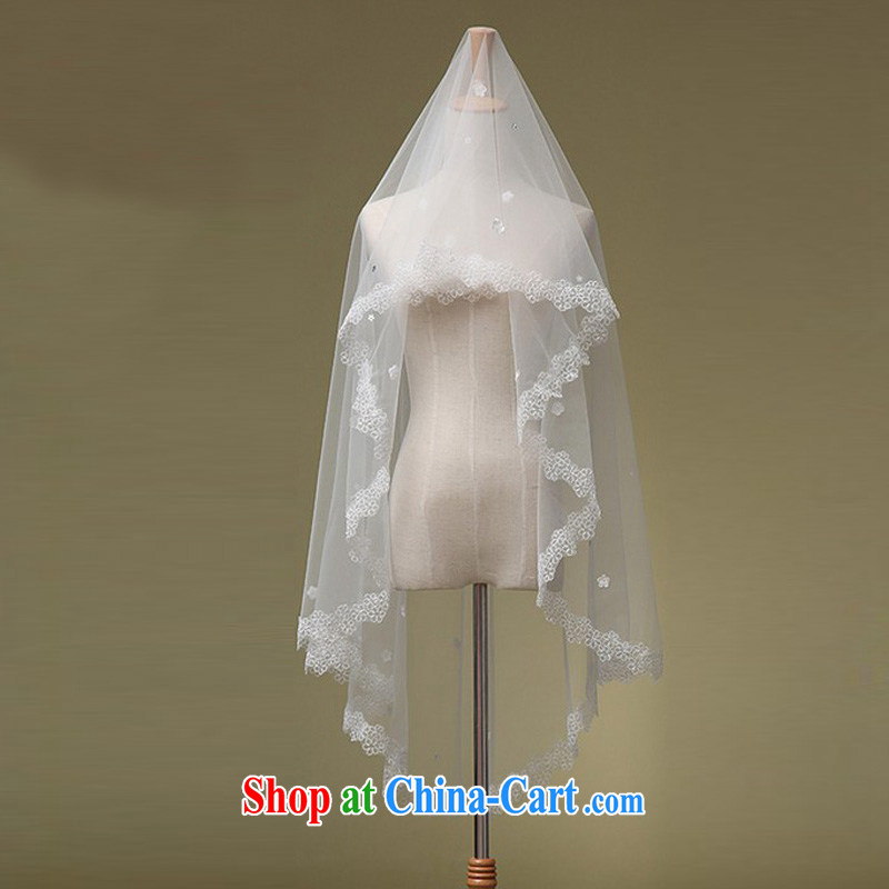 Friends, bridal wedding dresses with Korean lace lace and yarn 1.6 M Korea version and legal white
