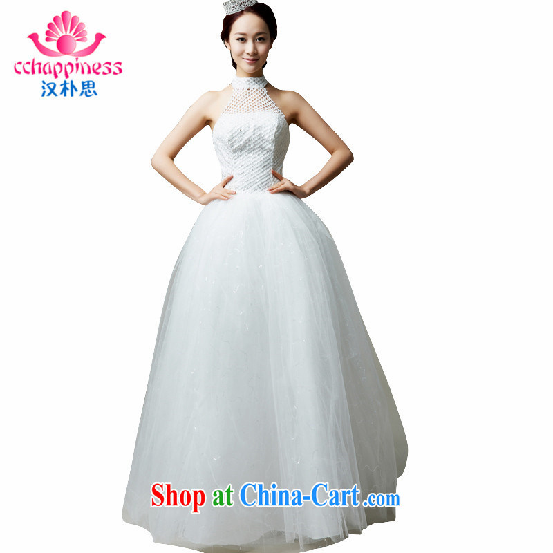 Han Park (cchappiness) 2015 new noble is also sexy exposed back Princess shaggy dress bridal wedding dresses white are code 170 or less height