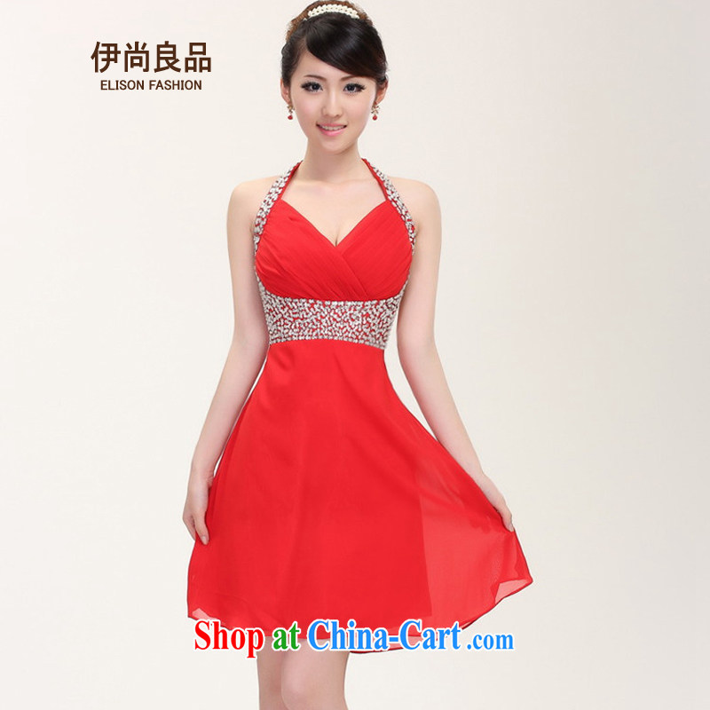 Iraq is still good, women toast bride dress short-chair also beauty dress star wedding dresses red S