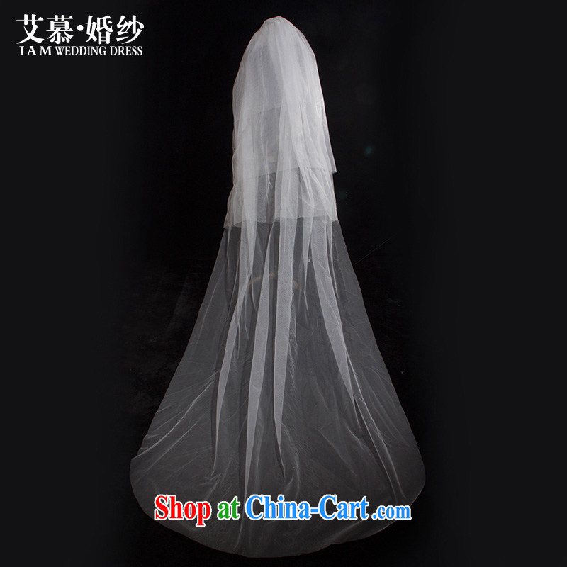 With the wedding dresses new 2015 lace long and legal marriages required accessories accessories 3M head yarn white
