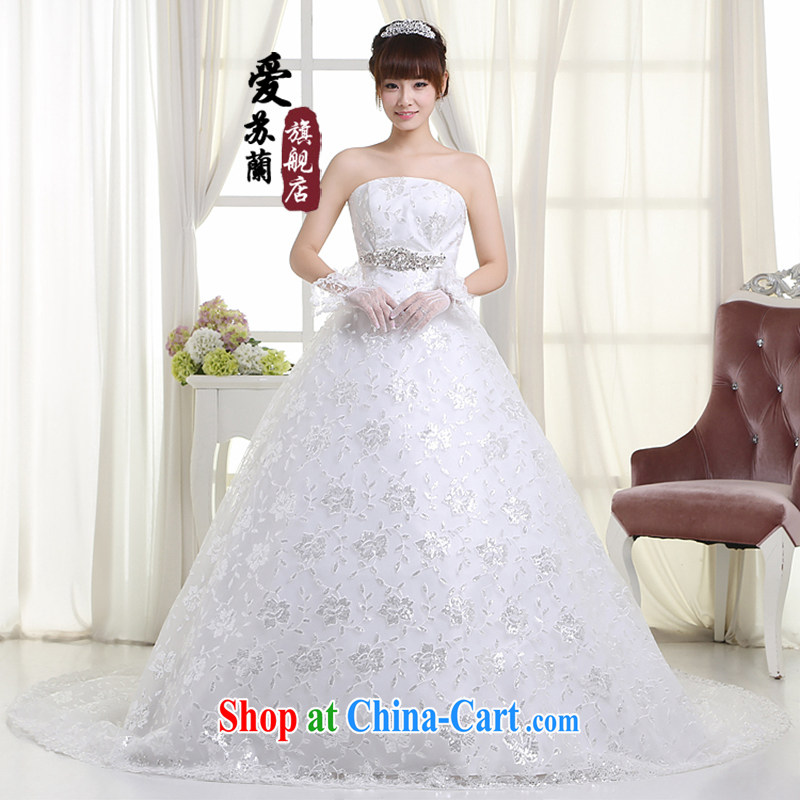New wedding long-tail wedding bridal marriage long-tail wedding High-tail wedding H 99 white XXXL so Balaam, and shopping on the Internet