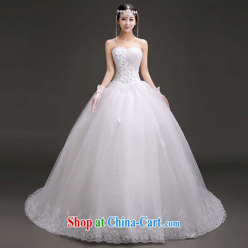 (Quakers) estimated 2015 bride's new wedding Korean wiped his chest graphics thin wedding spring and summer the drag and drop tail marriage wedding dresses and end-of-stream to fill it out to do fee