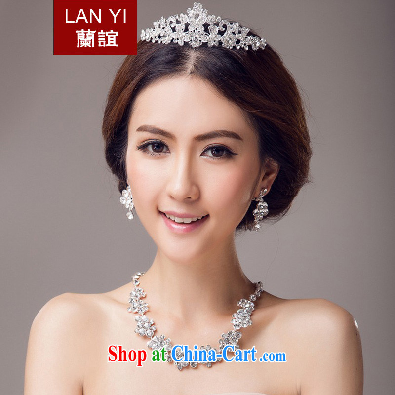_Quakers, 2015 bridal wedding dresses accessories Korean bridal Crown necklace earrings 3-Piece bridal jewelry and ornaments wedding dresses accessories 3 piece set