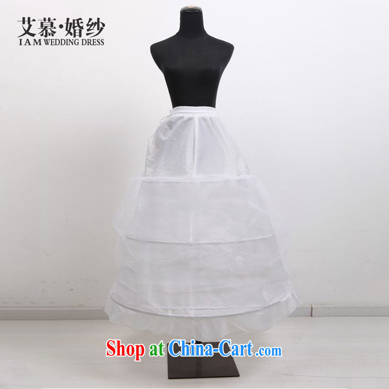 On the bridal suite 2015 new wedding accessories 3 steel ring skirt spreader accessory bridal wedding canopy skirts mandatory