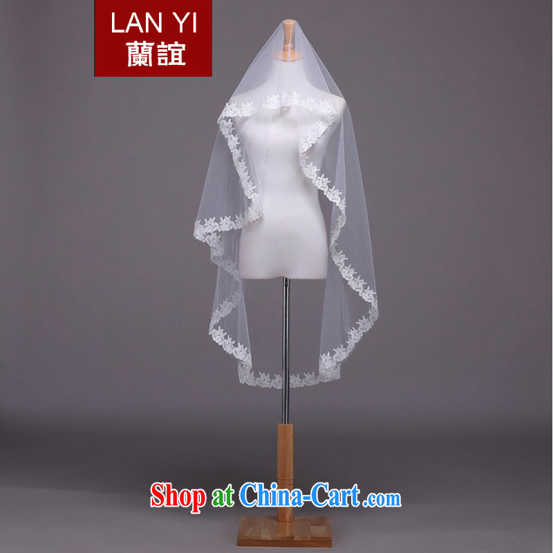 _Quakers, Korean bridal wedding dresses accessories 1.5M lace lace bridal head yarn white wedding photo building supplies white