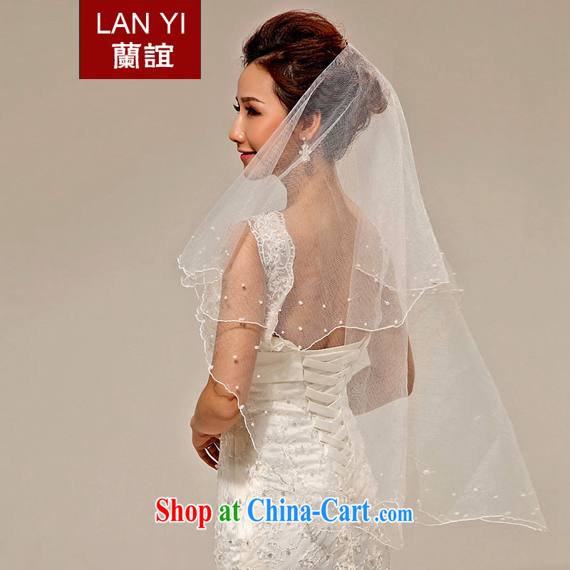 (Quakers, bride wedding dresses with Korean Pearl head yarn 1.5 M Korean head yarn shadow floor wedding supplies