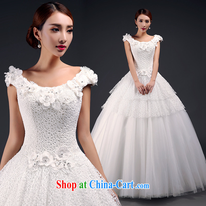 Where, in accordance with feathers wedding dresses new 2015 spring and summer double-shoulder wedding dresses with stylish beauty lace field shoulder marriages wedding hotel wedding white XL