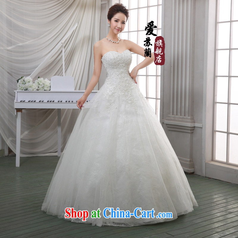 Spring upscale wedding soft Satin lace crowsfoot parquet drill retro elegant wedding dresses wedding wedding white XXL