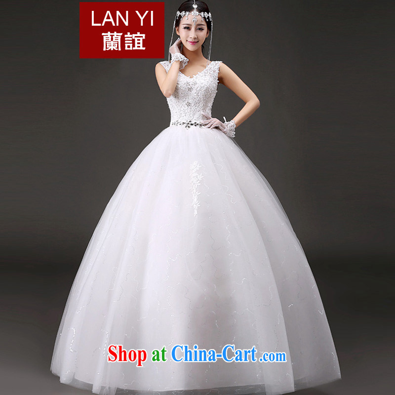 _Quakers_ estimated 2015 bride's new summer wedding dresses Korean version graphics thin shoulders V for wedding fashion lace with wedding White made a supplement will be doing fee
