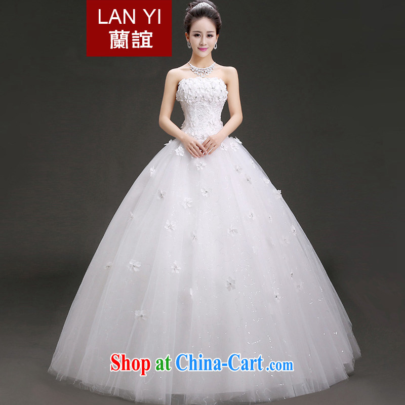 _Quakers_ estimated 2015 new summer fashion wiped his chest flowers wedding dresses Korean Beauty graphics thin wedding dresses white will supplement what can be done costs