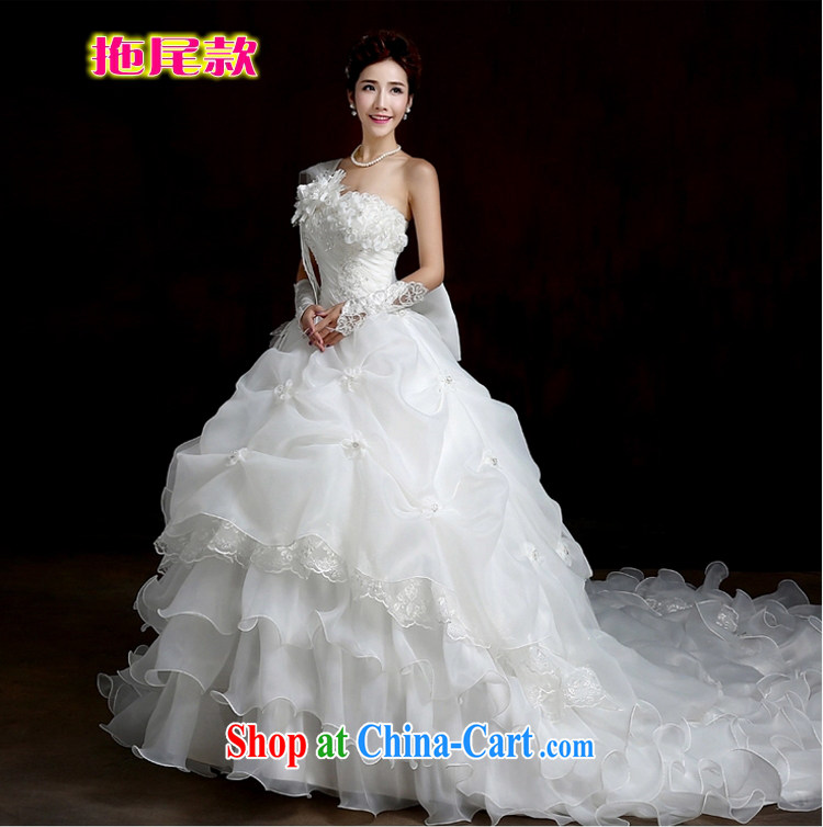 Yong-yan and 2015 autumn and winter new wedding dresses and stylish Korean-style single shoulder alignment to the Code thick MM graphics thin tail wedding winter white tail M pictures, price, brand platters! Elections are good character, the national distribution, so why buy now enjoy more preferential! Health