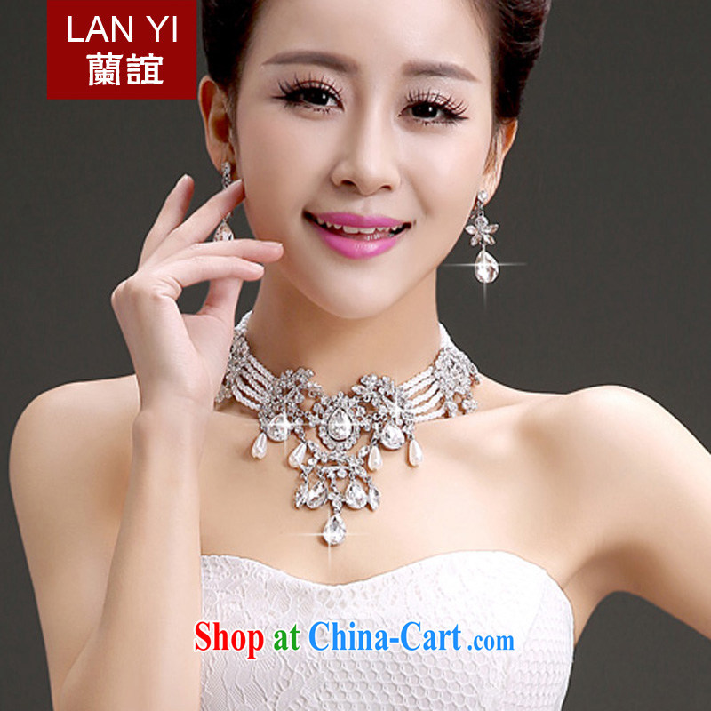 _Quakers, 2015 new bridal wedding dresses accessories Korean bridal head-dress-trim Crown necklace earrings 3 piece bridal jewelry shadow floor wedding 3 piece set