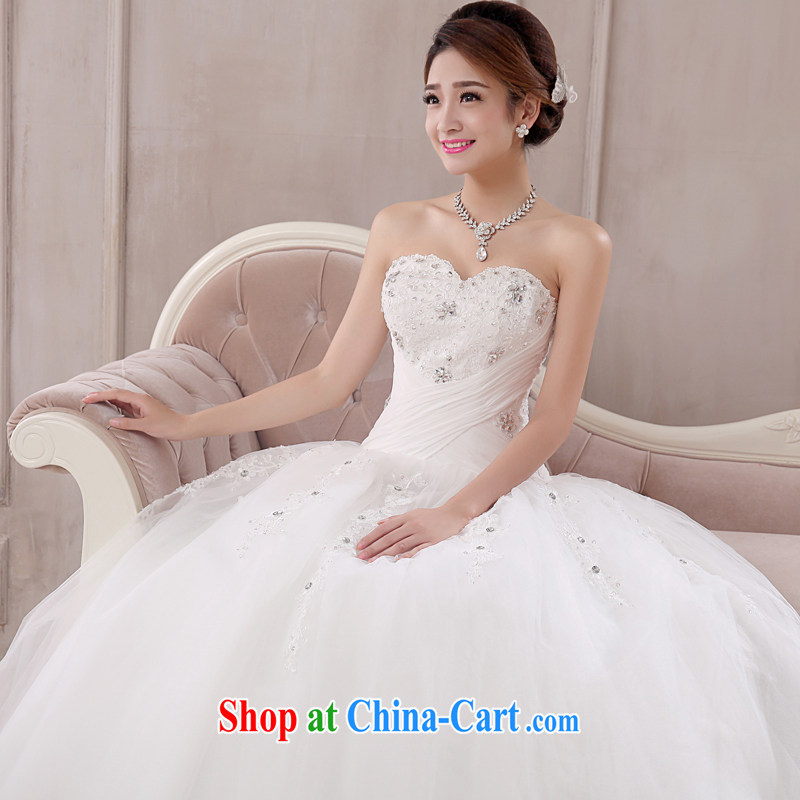 married love wedding dresses 2015 new Korean marriages with bare chest shaggy dress tied with a large code graphics thin winter women white XXL