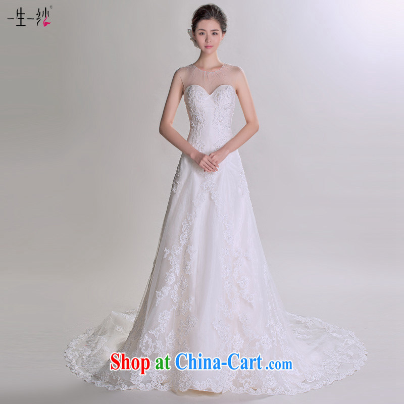 The core kyung dong fall in love with a model with 2015 new larger Korean-style wedding advanced custom wedding 401501240 white XL code 30 days pre-sale