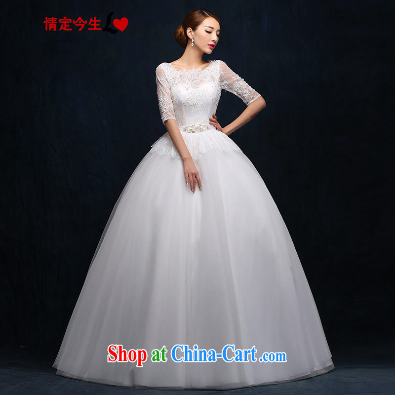 The Code love life wedding a shoulder with retro lace-continental 5 beauty cuff video thin strap 2015 new wedding dress girls white XXL