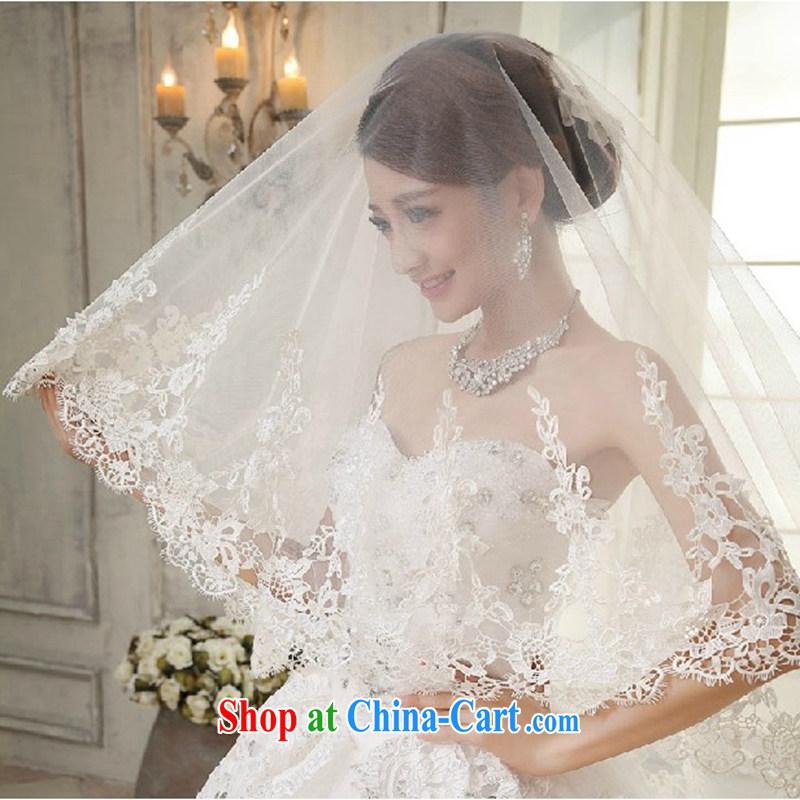 Hi Ka-hi 2015 new wedding dresses bridal lace lace and yarn soft Web yarn bridal head-dress - 07 white are code