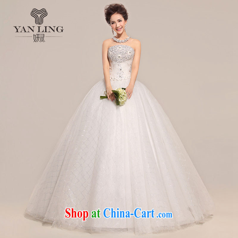 2015 wedding custom sexy bare chest wedding ultra-slim body with unique bride us sweet Korean wedding HS 518 meters white S