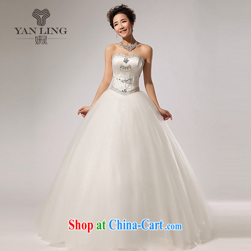 2015 new erase chest parquet drill with shaggy dress new wedding fall dress HS 260 white S