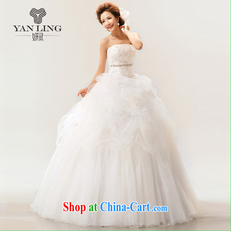 2015 new Korean Korean sweet wiped his chest to tie bridal wedding dresses white XXL