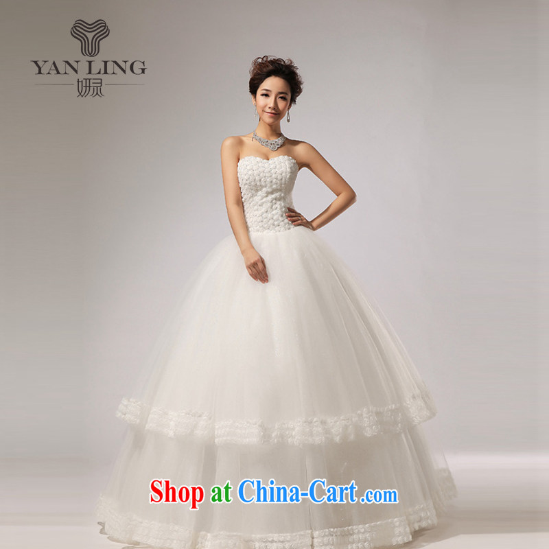 2015 new, wipe the chest skirts the hotel concierge bridal wedding dresses HS 267 white M