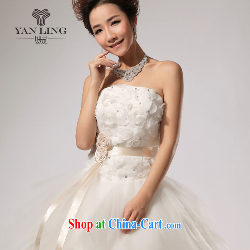 2015 New VERY WANG retro elegant sweet Mary Magdalene chest stylish wedding white L, her spirit, and shopping on the Internet