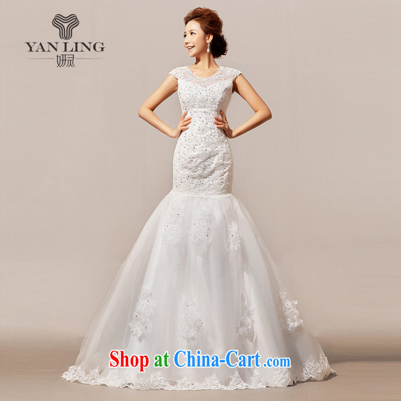 2015 new wedding tail winter wedding wedding a field shoulder HS 136 white L
